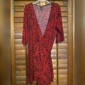 Red and Black Swirled Dress